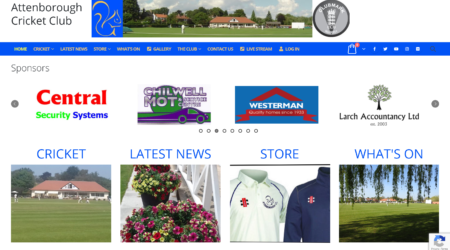 Attenborough CC New Website